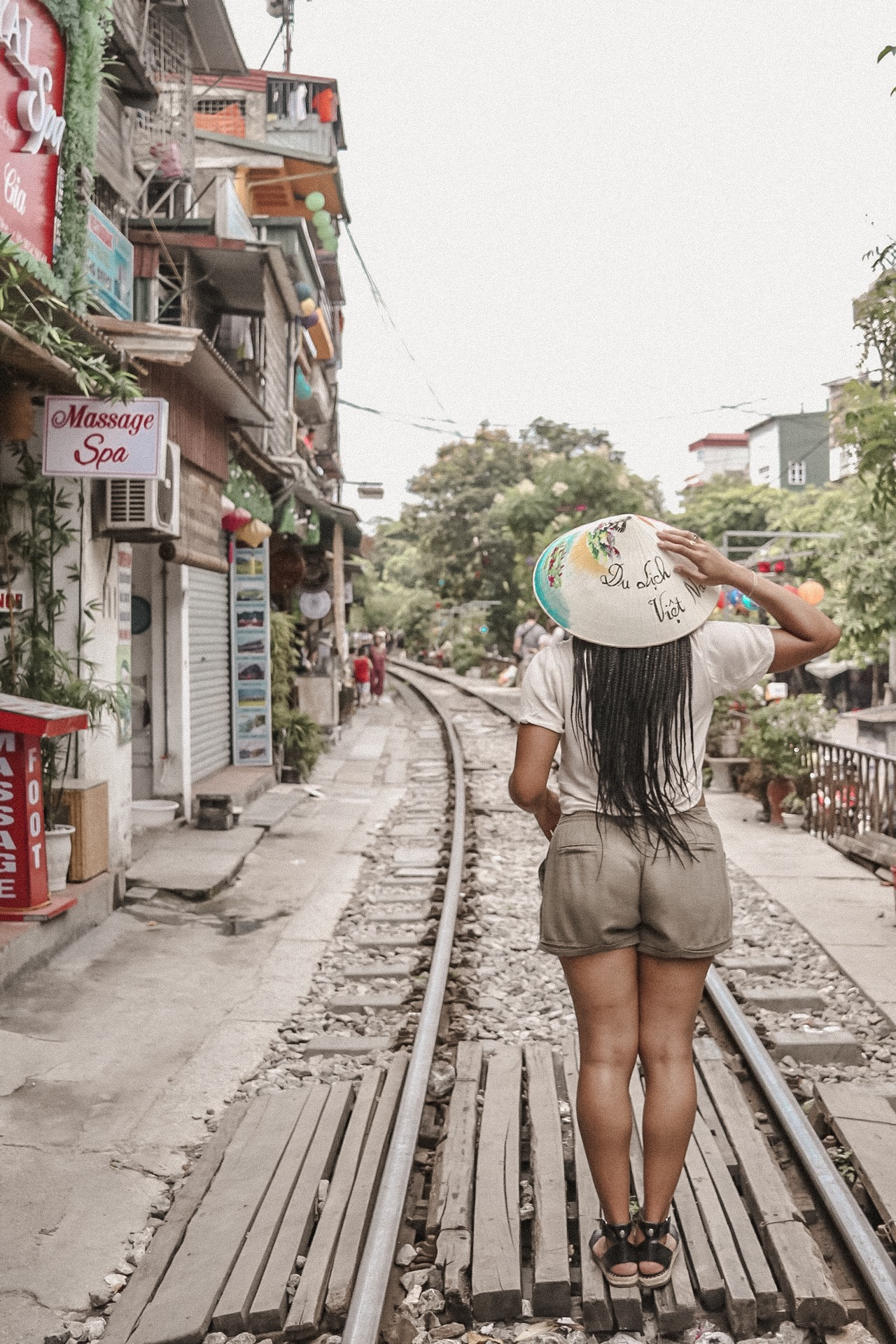 Illustrated by Sade - Visit Hanoi, Vietnam Train Street