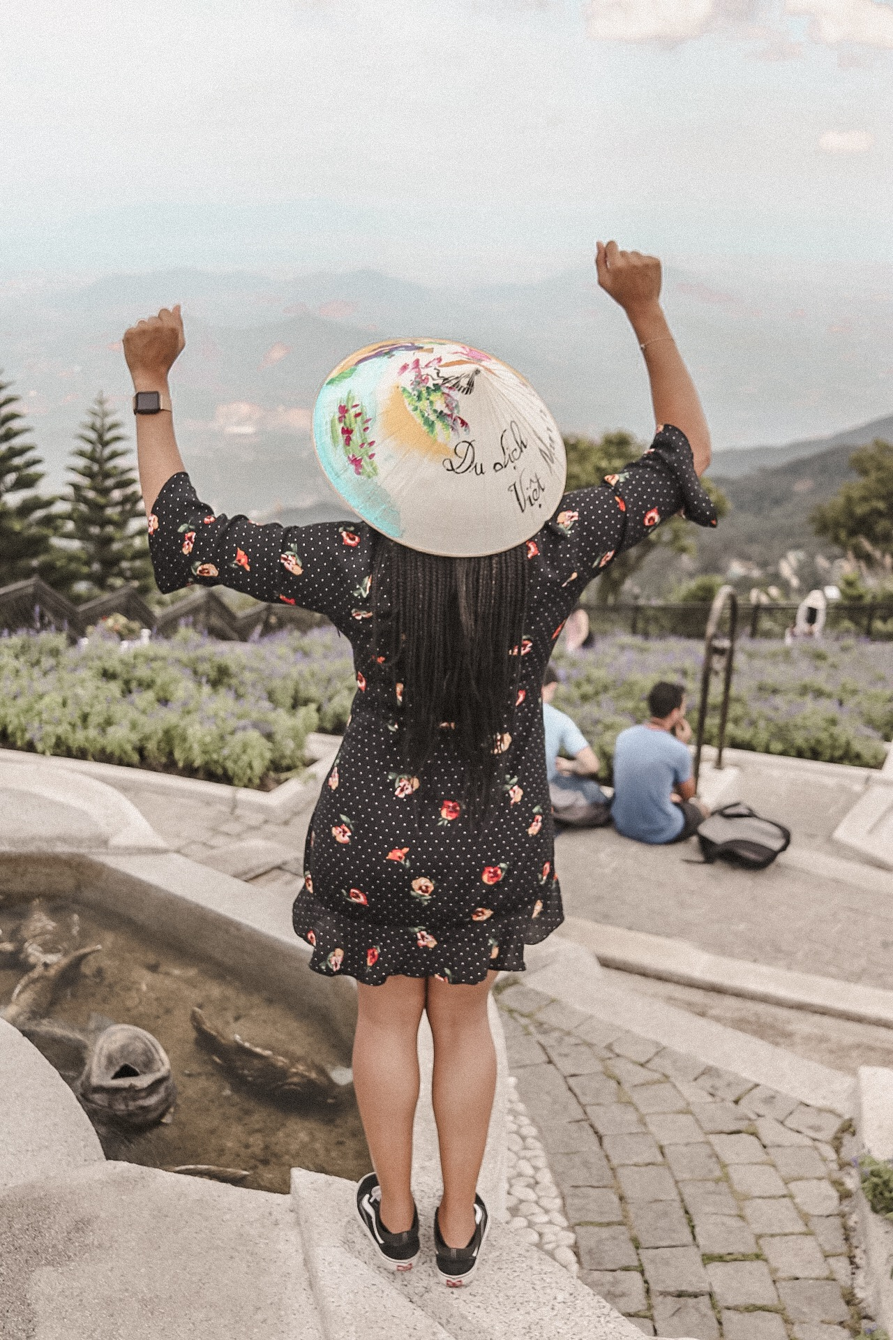 Overlooking Ba Na Hills at Sun World Theme Park, Da Nang, Vietnam