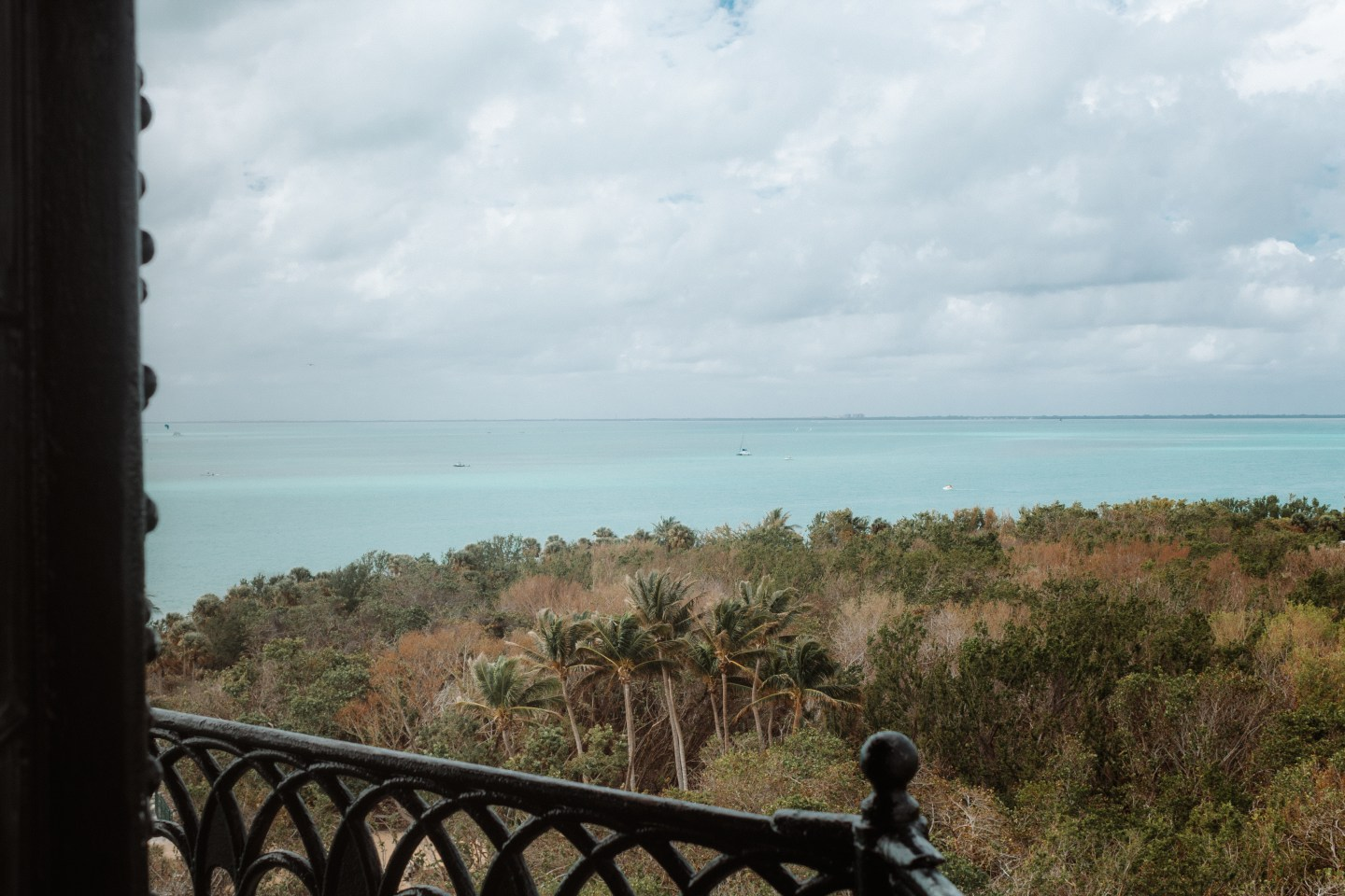 Illustrated by Sade - Ocean views at the top of Cape Florida Lighthouse at Bill Bagg's Park, Florida