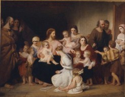 Christ Blessing Little Children, by Charles Lock Eastlake, c. 1839. Manchester Art Gallery, Manchester, United Kingdom. Via IllustratedPrayer.com