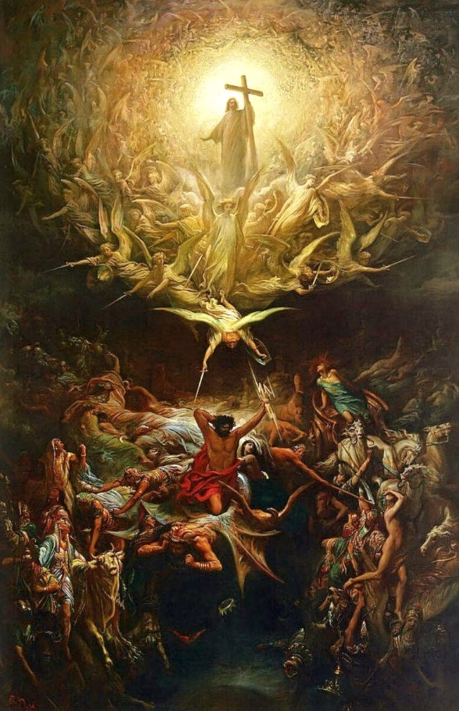 The Triumph of Christianity Over Paganism, by Gustave Doré, c. 1868. Art Gallery of Hamilton, Ontario, Canada. Via IllustratedPrayer.com