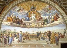 The Disputation of the Holy Sacrament, by Raphael, c. 1509-10. Musei Vaticani, Vatican City.