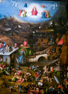 The Last Judgment, center panel, by Hieronymus Bosch, c. 1482. Academy of Fine Arts, Vienna, Austria. Via IllustratedPrayer.com