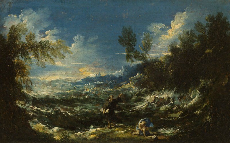 St. Augustine at the Seashore, by Alessandro Magnasco, c. 1740. Cincinnati Art Museum, Cincinnati, Ohio, United States. Via IllustratedPrayer.com