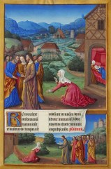 Miracle of the Canaanite Woman, from Tres Riches Heures of the Duke of Berry, c. 1485. Musee de Conde, Chantilly, France