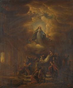 Assumption of the Virgin, by Jacob de Wet (I), c. 1640-72. Rijksmuseum, Amsterdam, Netherlands. Via IllustratedPrayer.com
