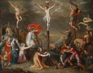 Christ on the Cross, by Simon de Vos, c. 17th century. Private collection. Via IllustratedPrayer.com
