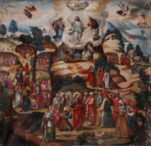 The Transfiguration, by Maestro de Santa Teresa, c. 18th century. Monasterio de Santa Teresa, Ayacucho, Perú. Via IllustratedPrayer.com
