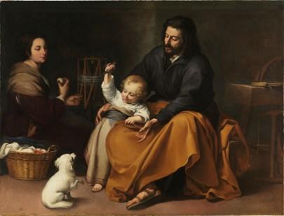 Holy Family with Bird, by Bartolomé Esteban Murillo, c. 1650. Museo de Prado, Madrid, Spain.