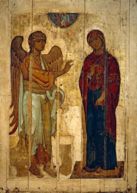 Ustyug Annuncation, c. 1130-40. The State Tretyakov Gallery, Moscow, Russia.