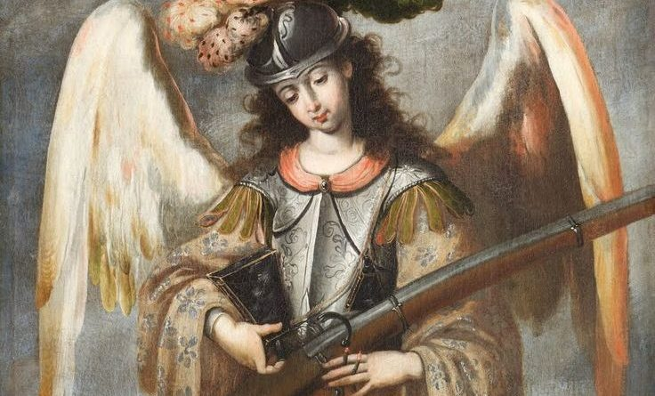 St  Michael with a Gun - Illustrated Prayer