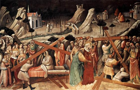 Discovery of the True Cross, by Agnolo Gaddi, c. 1380s. Santa Croche, Florence, Italy.