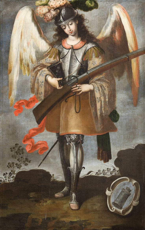 Archangel St. Michael, c. 18th century. Parroquia de Santa María la Mayor, Ezcaray, La Rioja, Spain. Via IllustratedPrayer.com