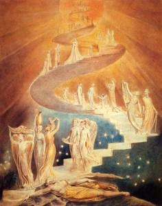 Jacob's Ladder, by William Blake, c. 1799-1806. Private collection. Via IllustratedPrayer.com