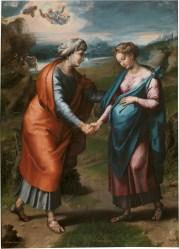 The Visitation, by Raphael and Workshop, c. 1617. Museo del Prado, Madrid, Spain. Via IllustratedPrayer.com