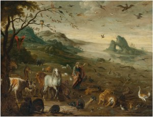 God Creating the Animals of the World, by Isaak van Oosten, c. 17th century. Private collection. Via IllustratedPrayer.com