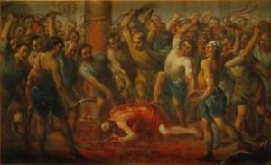 The Flagellation, by Nicolás Enríquez, c. 1729. Museo Nacional de Arte, Mexico City, Mexico. Via IllustratedPrayer.com