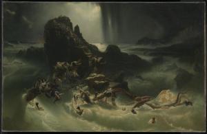 The Deluge, by Francis Danby, c. 1840. Tate Museum, London, United Kingdom. Via IllustratedPrayer.com