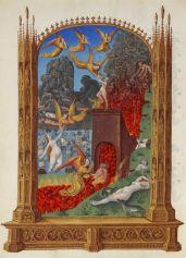 Purgatory from Les Très Riches Heures du duc de Berry, c. 15th century. Musee de Conde, Chantilly, France. Via IllustratedPrayer.com