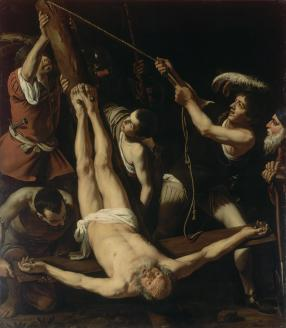 Martyrdom of St. Peter, by Caravaggio, c. 1571-1610. State Hermitage Museum, St. Petersburg, Russia.