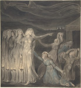 The Parable of the Wise and Foolish Virgins, by William Blake, c. 1799-1800. The Metropolitan Museum of Art, New York, New York, United States. Via IllustratedPrayer.com