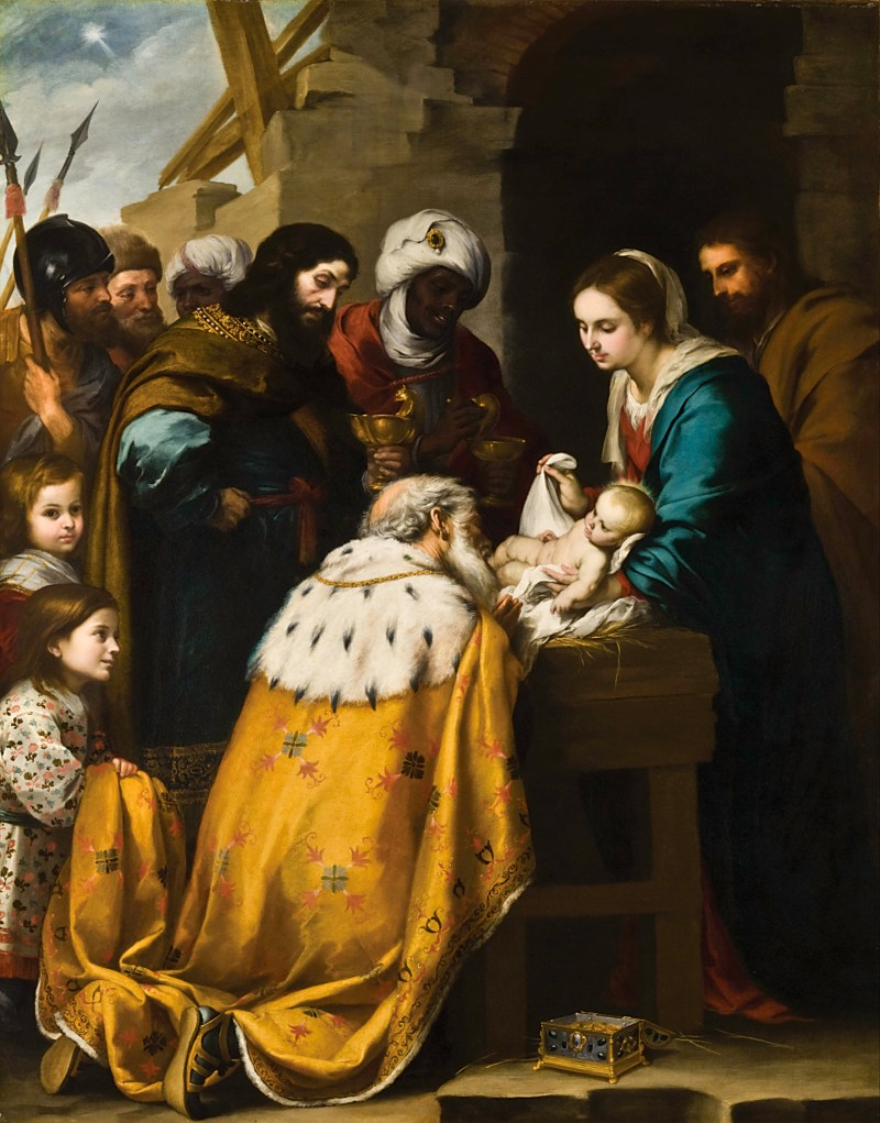 Adoration of the Magi, by Bartolomé Esteban Murillo, c. 1655-60. Toledo Museum of Art, Toledo, Ohio, United States. Via IllustratedPrayer.com