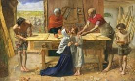 Christ in the House of His Parents, by John Everett Millais, c. 1849-50. Tate Britain, London, England. Via IllustratedPrayer.com
