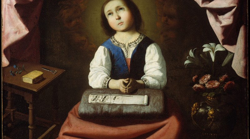 The Young Virgin, by Francisco de Zurbarán, c, 1632-33, The Metropolitan Museum of Art, New York, New York, United States. Via IllustratedPrayer.com