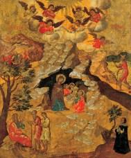 The Nativity, by Moskos Ilias, c. 1658. Benaki Museum of Greek Civilization, Athens, Greece. Via IllustratedPrayer.com