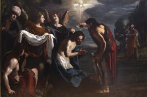 The Baptism of Christ, by Emilio Savonanzi, c. 1630-35. Musée des Beaux-Arts, Lyon, France. Via IllustratedPrayer.com