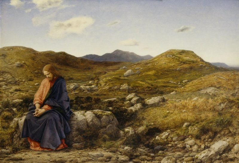 Man of Sorrows, by William Dyce, c. 1860. Scottish National Gallery, Edinburgh, United Kingdom. Via IllustratedPrayer.com