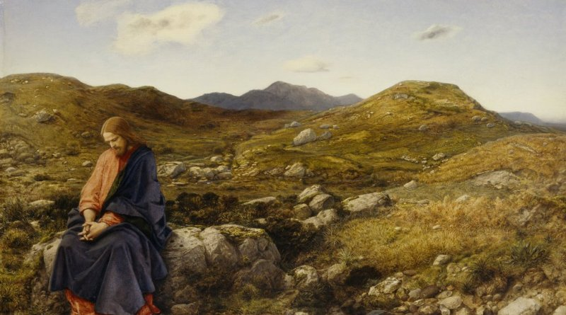 Man of Sorrows, by William Dyce, c. 1860. Scottish National Gallery, Edinburgh, United Kingdom. Via IllustratedPrayer.com