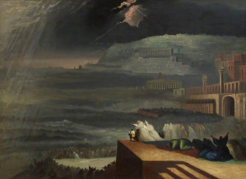 The Repentance of Ninevah, by John Martin, c. 1829. Anglesey Abbey, Cambridgeshire, England. Via IllustratedPrayer.com