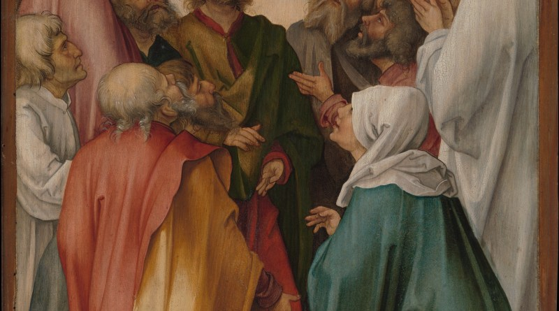 The Ascension of Christ, by Hans Süss von Kulmbach, c. 1513. Metropolitan Museum of Art. Via IllustratedPrayer.com