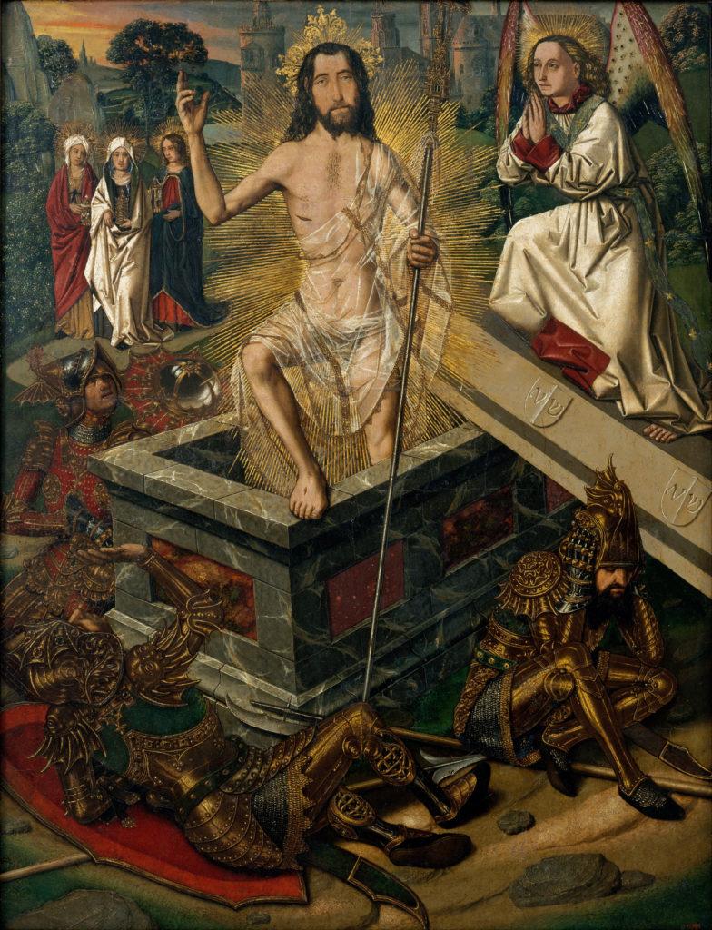 Resurrection of Christ, by Bartolomé Bermejo, c. 1475. Museu Nacional d'Art de Catalunya, Barcelona, Spain. Via IllustratedPrayer.com