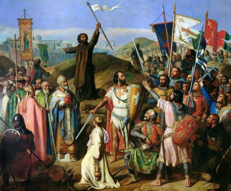 Procession of Crusaders around Jerusalem, by Jean Victor Schnetz, c. 1841. Palace of Versailles, Versailles, France. Via IllustratedPrayer.com