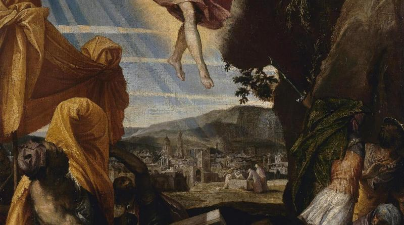 Resurrection of Christ, by Paolo Veronese, c. 1570s. State Hermitage Museum, St. Petersburg, Russia. Via IllustratedPrayer.com