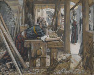 The Anxiety of St. Joseph, by James Tissot, c. 1886-94. Brooklyn Museum, New York, New York, United States. Via IllustratedPrayer.com