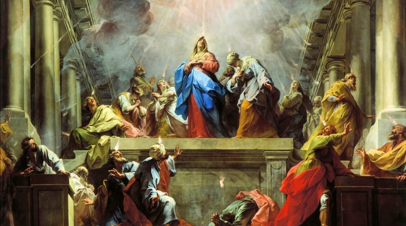 Pentecost, by Jean Restout, c. 1732. The Louvre, Paris, France. Via IllustratedPrayer.com