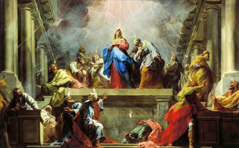 Pentecost, by Jean II Restout, c. 1732. The Louvre, Paris, France. Via IllustratedPrayer.com