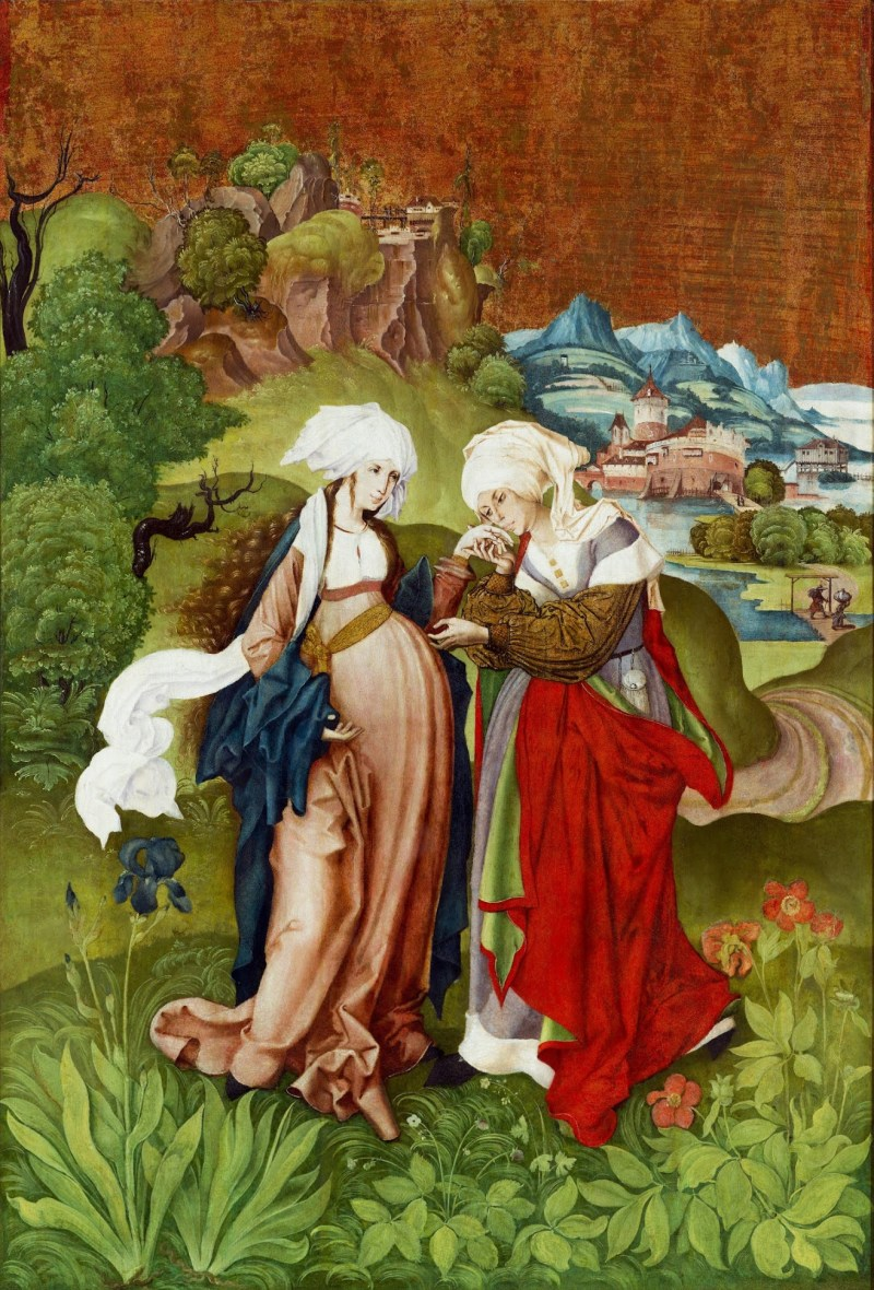 The Visitation, by Master MS, c. 1506. Hungarian National Gallery, Budapest, Hungary. Via IllustratedPrayer.com