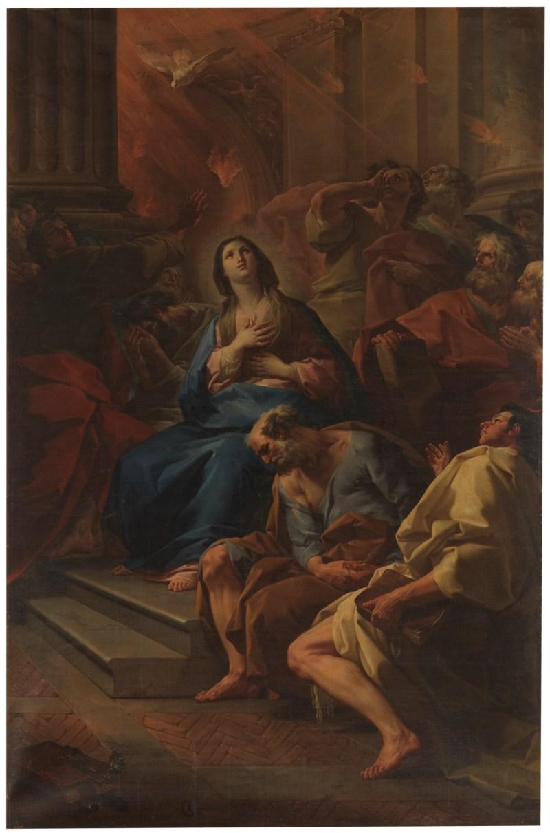 Pentecost, by Corrado Giaquinto, c. 18th century. Museo del Prado, Madrid, Spain. Via IllustratedPrayer.com