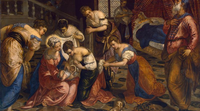 Nativity of St. John the Baptist, by Tintoretto, c. 1550s. State Hermitage Museum, St. Petersburg, Russia. Via IllustratedPrayer.com