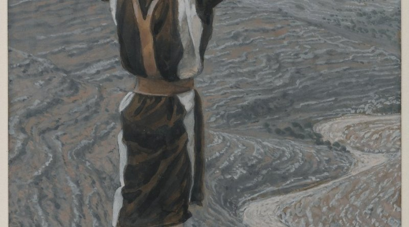 The Voice in the Desert, by James Tissot, c. 1886-94. Brooklyn Museum, New York, New York, United States. Via IllustratedPrayer.com