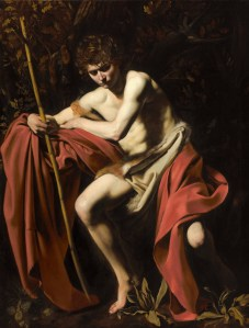 St. John the Baptist in the Wilderness, by Caravaggio, c. 1604-05. Nelson-Atkins Museum of Art, Kansas City, Missouri, United States. Via IllustratedPrayer.com