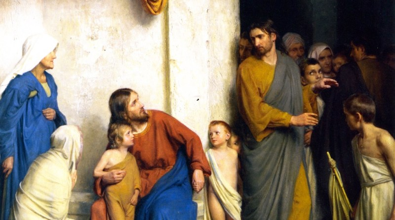 Suffer the Little Children, by Carl Heinrich Bloch, c. 19th century. Museum of Natural History, Frederiksborg Slot, Hillerød, Denmark. Via IllustratedPrayer.com