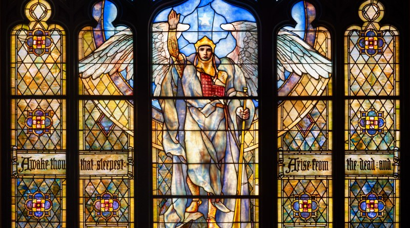 Angel of the Resurrection, by Frederick Wilson, c. 1901-05. Indianapolis Museum of Art, Indianapolis, Indiana, United States. Via IllustratedPrayer.com