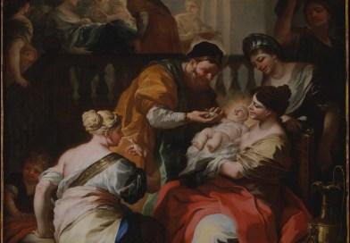 Birth of the Virgin, by Francesco Solimena, c. 1690. Metropolitan Museum of Art, New York, New York, United States. Via IllustratedPrayer.com