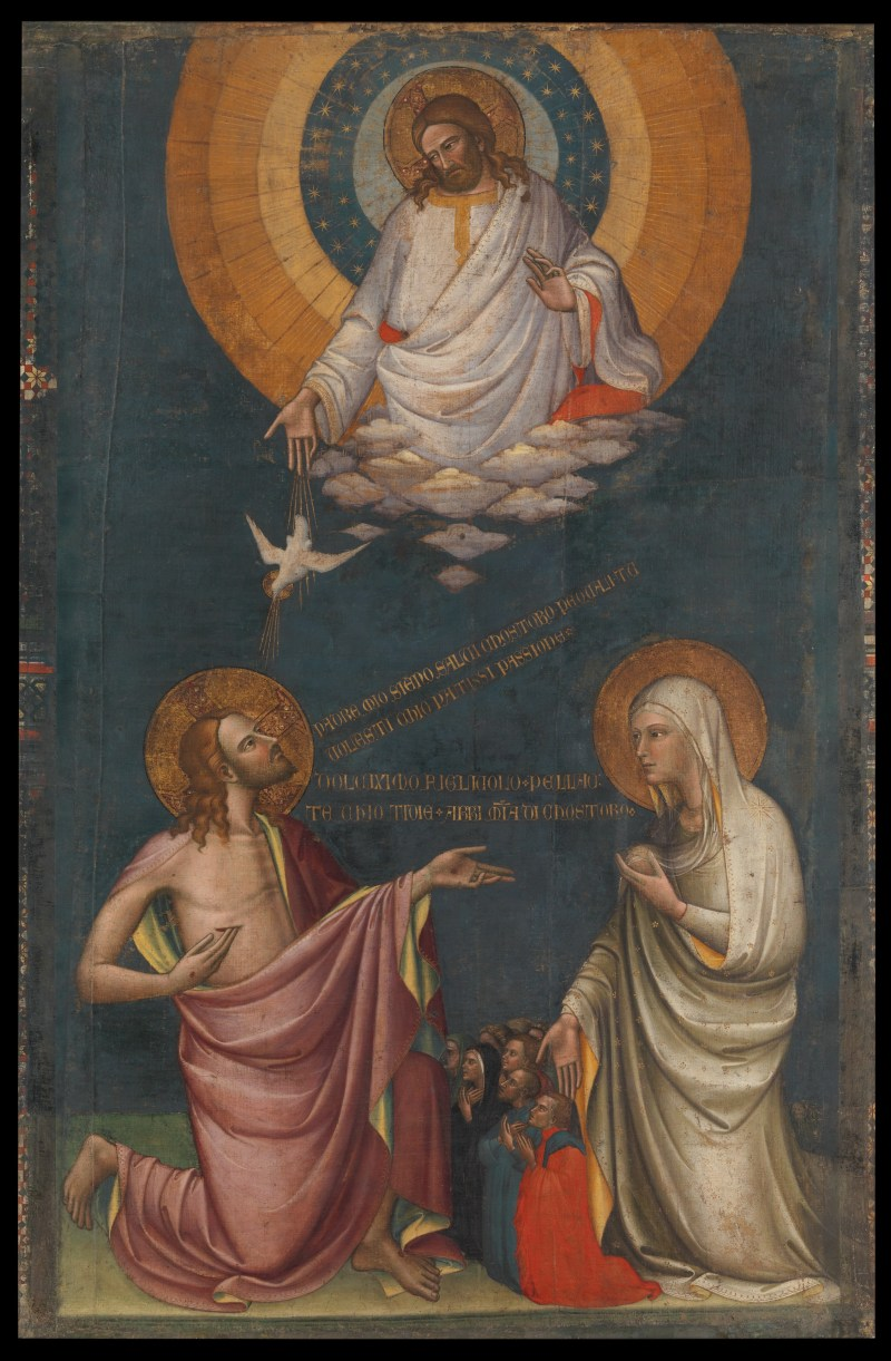 The Intercession of Christ and the Virgin, by Lorenzo Monaco, c. before 1402.  Metropolitan Museum of Art, New York, New York, United States. Via IllustratedPrayer.com