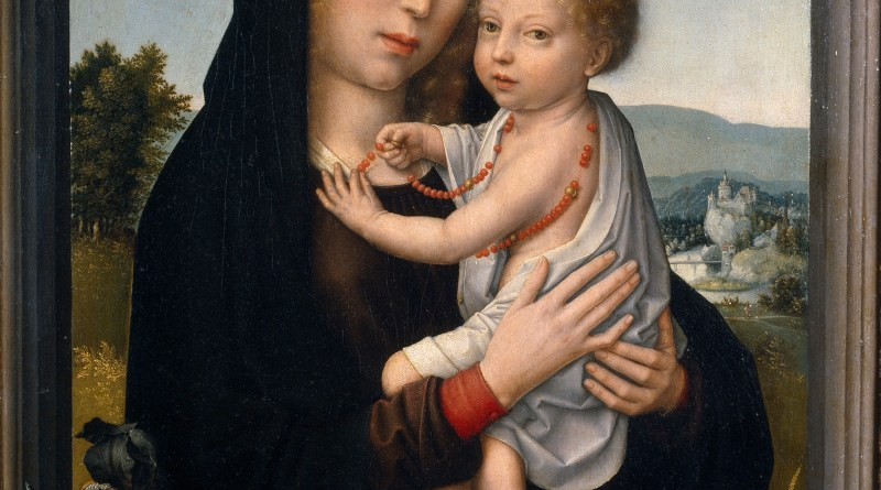 The Virgin with Child, by Gerard David, c. 1520. Museo del Prado, Madrid, Spain. Via IllustratedPrayer.com